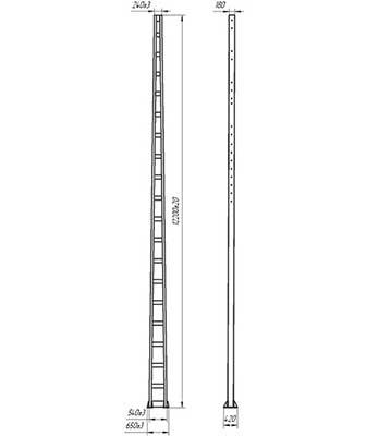 Консольные-опоры-с-гранями-поясов-из-гнутого-швеллера-альбом-№6226И