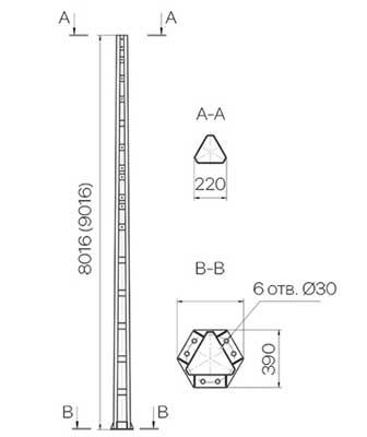 Металлические-стойки-опор-высоковольтно-сигнальных-линий-автоблокировки