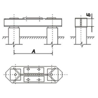 Под свободностоящие промежуточно-угловые и анкерно-угловые опоры, закрепляемые четырьмя болтами