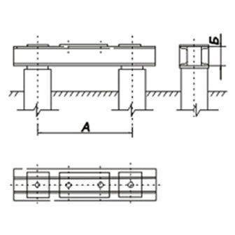 Под-свободностоящие-промежуточные-металлические-опоры,-закрепляемые-двумя-болтами