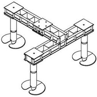 Свайные фундаменты опор ЛЭП, элементы и балки ростверков серия 3.407.9-146, серия 3.407.9-158